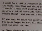Dopis, který producent Steve Albini poslal kapele Nirvana před nahráváním...
