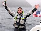 Úterý 24. 9 2013. Sarah dorazila ke břehům  Aleutských ostrovů na Aljašce.