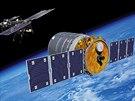 Vizualizace přibližování soukromé lodi Cygnus k ISS