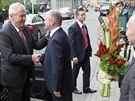 Miloš Zeman na návštěvě Brna (25. září 2013)