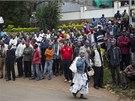 Útok islamistů na nákupní centrum v keňském hlavním městě Nairobi. (21. 9. 2013)