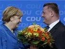Kancléřka Angela Merkelová a Hermann Gröhe, generální tajemník