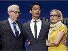 Ministr financí a lídr FDP Philipp Roesler a další čelní představitel strany