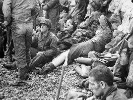 Spojenecká vojska při vylodění na pobřeží Normandie (6. června 1944)