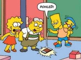 Uk�zka z komiksu Bart Simpson 1