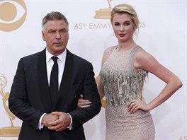 Alec Baldwin a jeho dcera Ireland na Emmy Awards (Los Angeles, 22. září 2013)