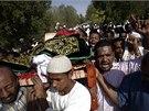 Pohřeb oběti nepokojů v Súdánu (29. září 2013)