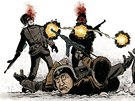 Ukázka z komiksu Vrána - Soumrak bohů
