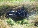 Nehoda motocyklu u Nového Města na Hradecku (29.9.2013).