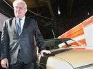 Miloš Zeman u Tatry T700. Podobnou jezdil v době, kdy byl premiér. (3.10.2013)