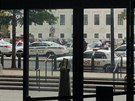 Policie zasahuje před washingtonským Kapitolem (3. října)