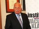 """Václav Klaus při představení nové knihy """"Česká republika na rozcestí. Čas"""