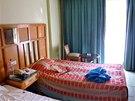 Hotelový pokoj v Egyptě, ve kterém bydlí Petr Kramný
