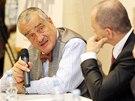Předseda TOP 09 Karel Schwarzenberg, vystupující v předvolební kampani jako