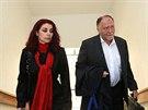 Kateřina Pancová k soudu dorazila se svým advokátem Tomášem Sokolem