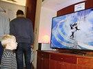 """HEP 2013 Hlavní �ástí expozice byl 65"""" 4K/UHD televizor Philips, který..."""