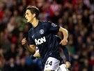 Z�lo�n�k Adnan Januzaj z Manchesteru United se raduje z g�lu.