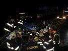 Nehoda osobního a nákladního auta u Častolovic na Rychnovsku (3.10.2013).