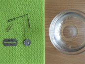 Co potřebuješ? Drobné kovové předměty (špendlík, kancelářskou sponka, žiletku,...