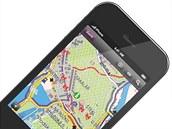 Aplikace PhoneMaps na iPhonu