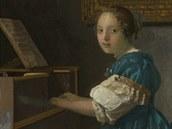 Johanes Vermeer, Žena sedící u spinetu