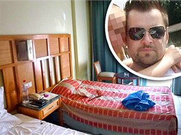 Hotelov� pokoj v Egypt�, ve kter�m bydl� Petr Kramn� (ve v��ezu)