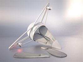 Dropion 3.0 je d�lo designera Petra Bako�e. Gondola ukr�v� ve�kerou elektroniku...