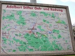 Mapa cyklostezky v okolí bavorského Waldkirchenu