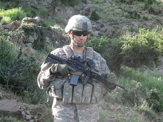 Kapitán William Swenson během služby v afghánské provincii Kunar