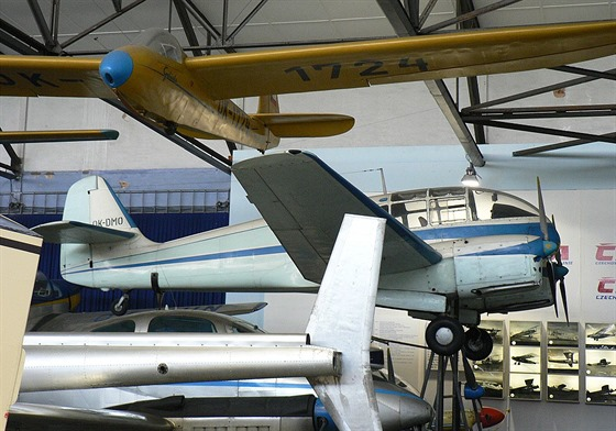 Aero Ae-45 v Leteckém muzeu ve Kbelích.