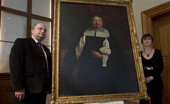 Vít Vlnas pověřený vedením NG a kurátorka sbírky starého umění Marcela...