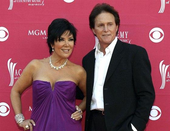 Bruce Jenner a jeho manželka Kris (5. dubna 2009)