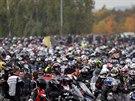 Vzpomínková jízda na Masarykově okruhu za jezdce Simoncelliho (12. října 2013)