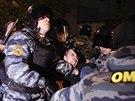 Protesty ruských nacionalistů na moskevském předměstí Birjuljevo (13. října...