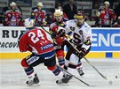 PROTI SVÝM. Hokejový útočník Tomáš Rolinek nastoupil jako sparťanský kapitán