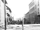 Ghetto v Rize v roce 1942.