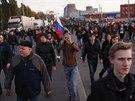 Nespokojenost obyvatel ruské metropole nicméně vyústila v sérii demonstrací, z...