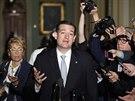 Senátor Ted Cruz odpovídá na dotazy novinářů (16. října)