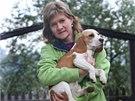 Eva Cenková nemohla mít v dětství psa. Nyní si to plně vynahrazuje.