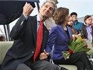 Cameron Kerry s manželkou Kathy v Horním Benešově na Bruntálsku. (14. října