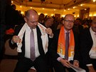 Bohuslav Sobotka a MIchal Hašek na konferenci ČSSD.