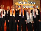 Vedení ČSSD na programové konferenci.