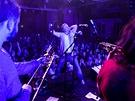 Kapela Kryštof během koncertu klubového turné v Jindřichově Hradci (12. října