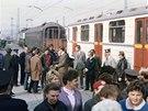 Při převozu do Prahy se zastavily v hraniční stanici Čop.