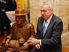V Nymburce poseděl prezident i se spisovatelem Bohumilem Hrabalem.