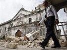 Zemětřesení poškodilo v pátém největším filipínském městě Cebu i baziliku