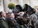 Zahájení 46. mezinárodního setkání sokolníků v Opočně (10.10.2013).