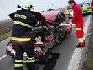 Nehoda felicie a dodávky u Nového Města nad Metují (17.10.2013).