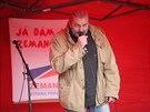 Daniel Hůlka na mítinku SPOZ v Kostelci nad Orlicí (16.10.2013).