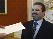 Nový palestinský velvyslanec Džamál Muhammad al-Džamál předal pověřovací...
